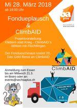 Flyer fondueplausch climbaid definitiv